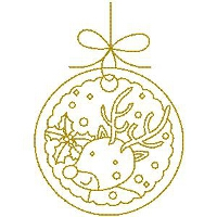 Gold Reindeer Small