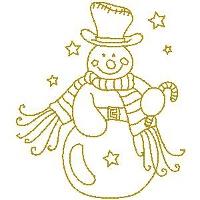 Gold Snowman Small