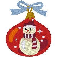 Happy Snowman Ornament