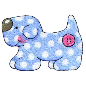 Stuffed Polka Dot Puppy