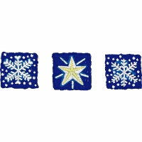 Two Snowflakes and a Star