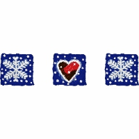 Two Snowflakes and a Heart