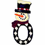 """Snowman with """"O"""""""