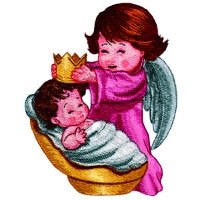 Angel with a Baby and a Crown