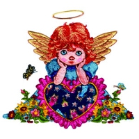 Angel Leaning on a Heart