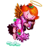 Angel Playing a Lyre