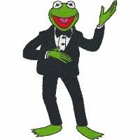Kermit in a Tuxedo