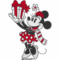 Vintage Minnie with Present