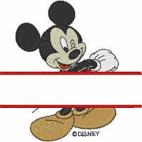 Mickey Mouse Split Design