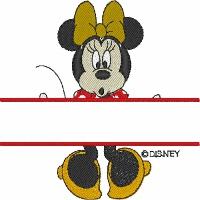 Minnie Mouse Split Design
