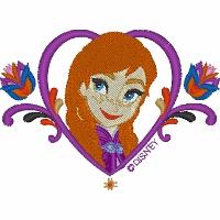 Anna with Heart Frame