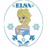 Elsa with Floral Frame