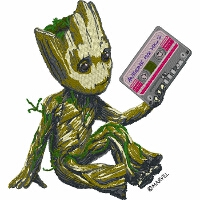 Groot with Cassette