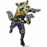 Rocket Raccoon Armed