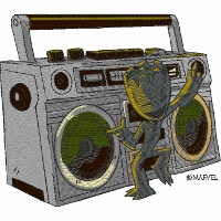 Groot with Boombox