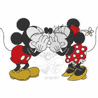 Mickey & Minnie Kiss