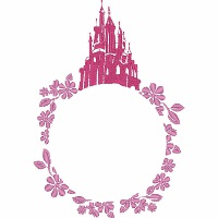 Sleeping Beauty Castle Monogram Frame