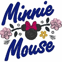Minnie Mouse Floral Signature