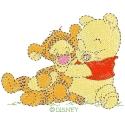 Baby Pooh Hugging Baby Tigger