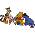 Winnie the Pooh and all of his friends-Tigger, Piglet, Eeyore