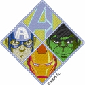 Avengers Hulk, Iron Man & Capt America