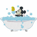 Baby Mickey in the Tub
