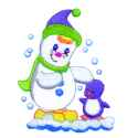Snowman and Penguin Friend