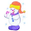 Snowman with Candy Canes
