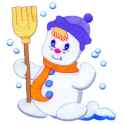 Sweeping Snowman