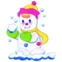 Snowman with Snowball