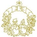 Gold Snowmen Wreath