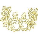 Gold Snowmen