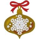 Wide Snowflake Ornament