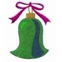 Green Bell Ornament