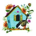 Aqua Birdhouse