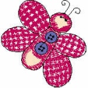 Pink Button Butterfly