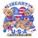 Libearty USA with Two Bears