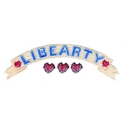 Libearty Banner with Three Hearts