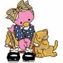Pink Bird with Kitten