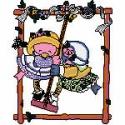 Two Little Friends on a Swing