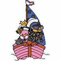 Two Little Friends on a Boat