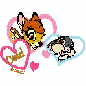 Bambi and Thumper in Hearts