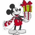 Vintage Mickey with Present
