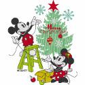 Vintage Mickey & Minnie Christmas Tree