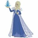 Elsa with Ice Tree
