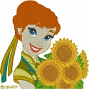 Anna with Sunflowers