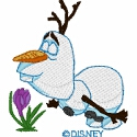 Olaf Smelling Flower