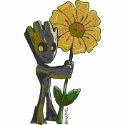 Groot with Flower