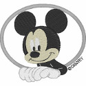 Mickey Oval Applique