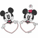 Mickey & Minnie Monogram Frame